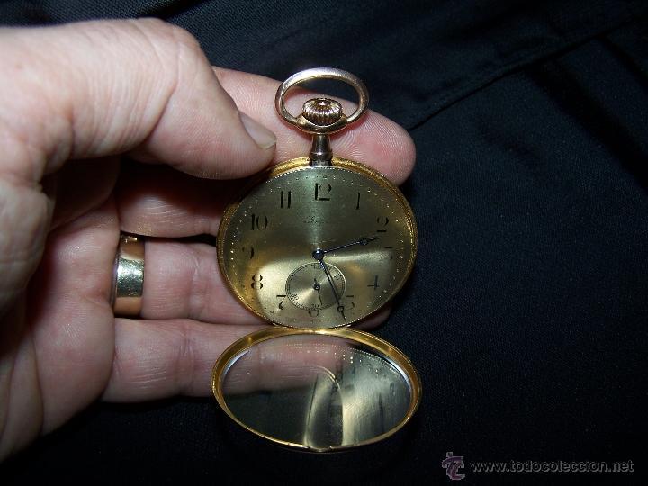 Relojes de bolsillo: ANTIGUO RELOJ DE ORO LONGINES, AÑO 1905, CON SU LEONTINA DE ORO Y CAJA RELOJERA DE VIAJE - Foto 70 - 41410262