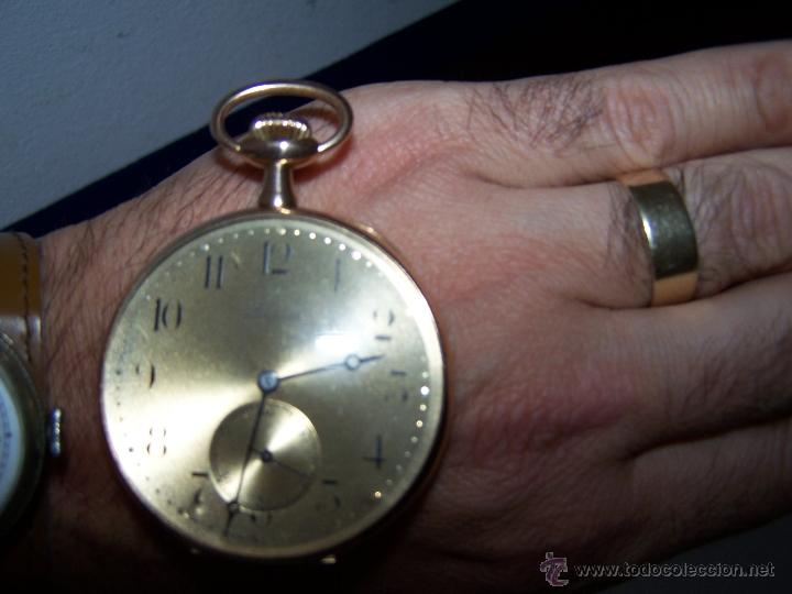 Relojes de bolsillo: ANTIGUO RELOJ DE ORO LONGINES, AÑO 1905, CON SU LEONTINA DE ORO Y CAJA RELOJERA DE VIAJE - Foto 79 - 41410262