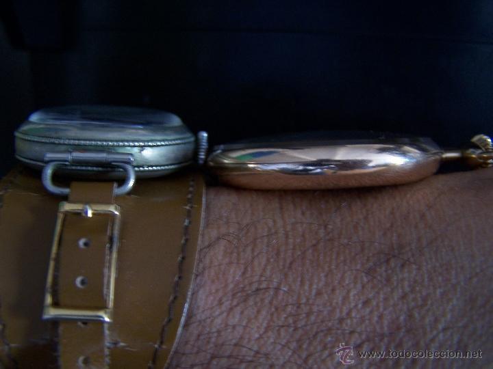Relojes de bolsillo: ANTIGUO RELOJ DE ORO LONGINES, AÑO 1905, CON SU LEONTINA DE ORO Y CAJA RELOJERA DE VIAJE - Foto 82 - 41410262
