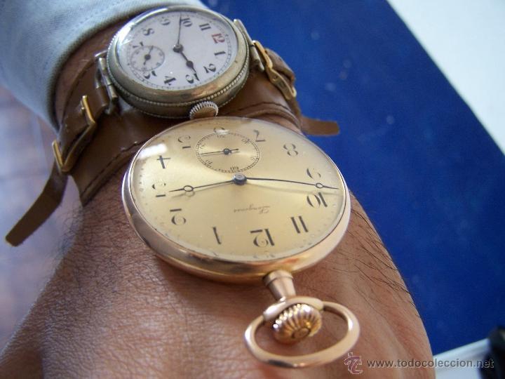 Relojes de bolsillo: ANTIGUO RELOJ DE ORO LONGINES, AÑO 1905, CON SU LEONTINA DE ORO Y CAJA RELOJERA DE VIAJE - Foto 83 - 41410262
