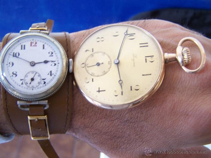 Relojes de bolsillo: ANTIGUO RELOJ DE ORO LONGINES, AÑO 1905, CON SU LEONTINA DE ORO Y CAJA RELOJERA DE VIAJE - Foto 84 - 41410262