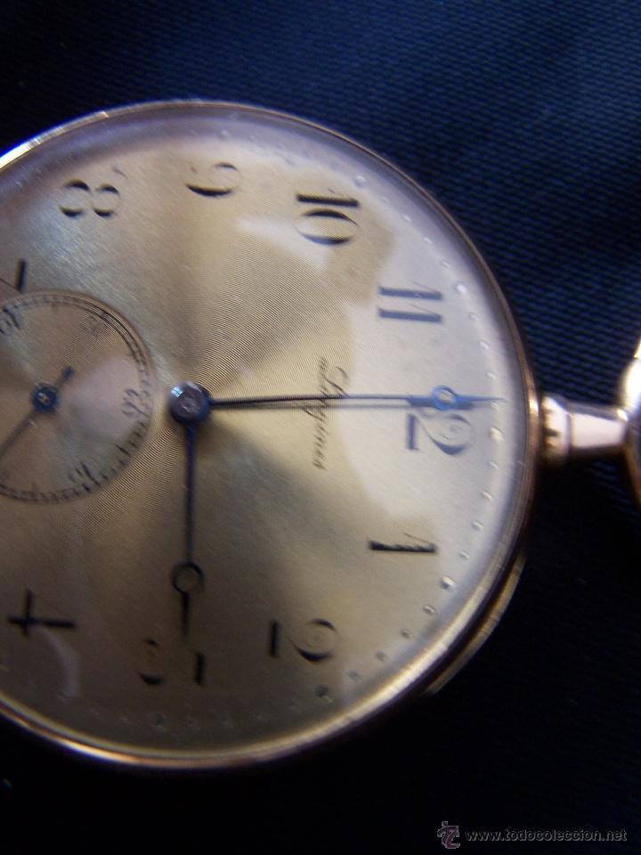Relojes de bolsillo: ANTIGUO RELOJ DE ORO LONGINES, AÑO 1905, CON SU LEONTINA DE ORO Y CAJA RELOJERA DE VIAJE - Foto 86 - 41410262