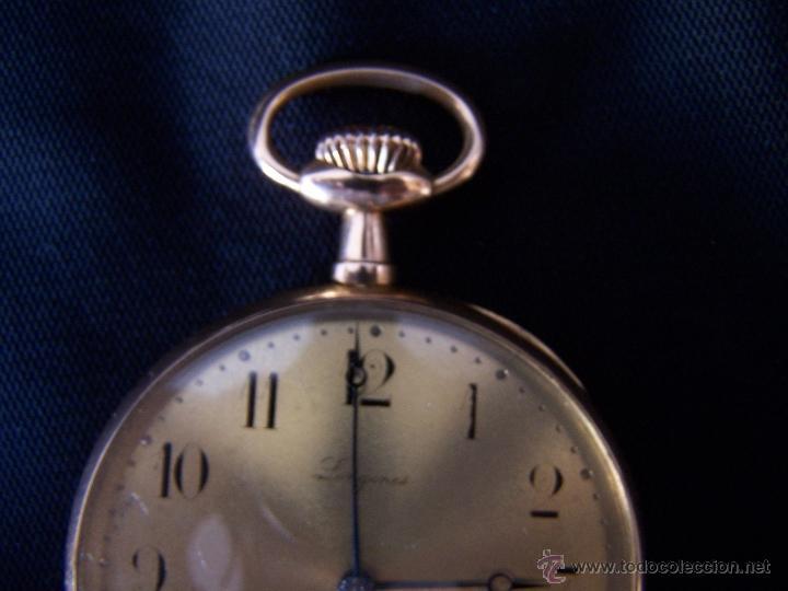 Relojes de bolsillo: ANTIGUO RELOJ DE ORO LONGINES, AÑO 1905, CON SU LEONTINA DE ORO Y CAJA RELOJERA DE VIAJE - Foto 87 - 41410262