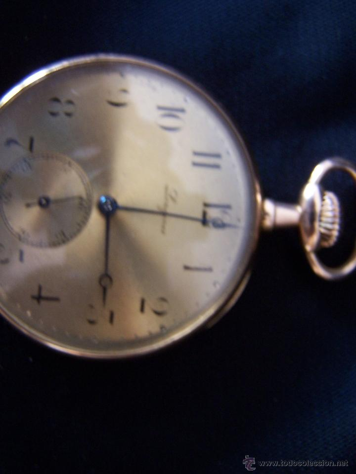 Relojes de bolsillo: ANTIGUO RELOJ DE ORO LONGINES, AÑO 1905, CON SU LEONTINA DE ORO Y CAJA RELOJERA DE VIAJE - Foto 88 - 41410262