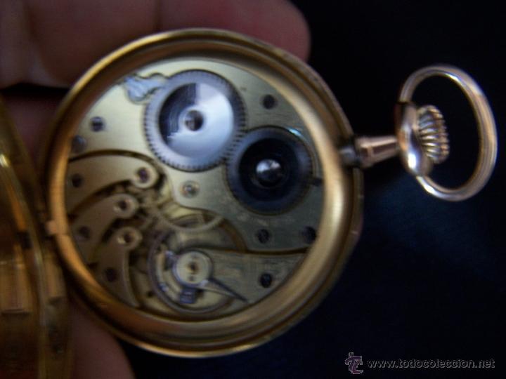 Relojes de bolsillo: ANTIGUO RELOJ DE ORO LONGINES, AÑO 1905, CON SU LEONTINA DE ORO Y CAJA RELOJERA DE VIAJE - Foto 89 - 41410262