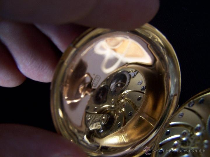Relojes de bolsillo: ANTIGUO RELOJ DE ORO LONGINES, AÑO 1905, CON SU LEONTINA DE ORO Y CAJA RELOJERA DE VIAJE - Foto 91 - 41410262