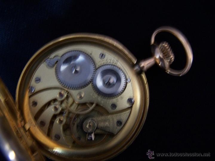 Relojes de bolsillo: ANTIGUO RELOJ DE ORO LONGINES, AÑO 1905, CON SU LEONTINA DE ORO Y CAJA RELOJERA DE VIAJE - Foto 92 - 41410262