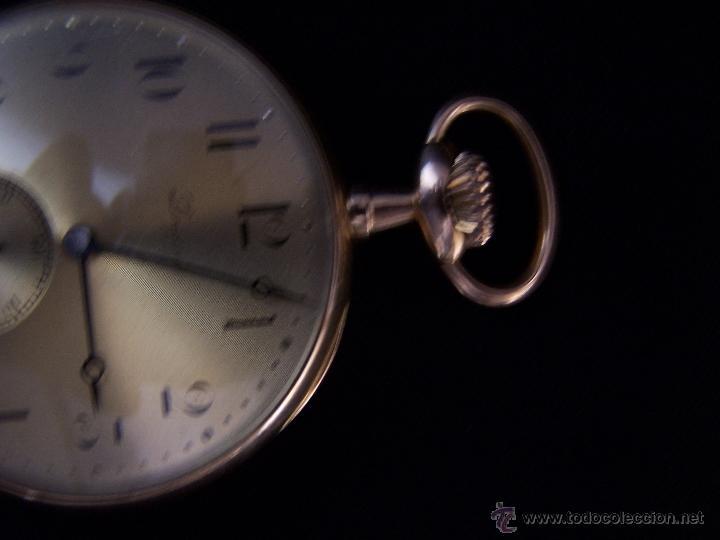 Relojes de bolsillo: ANTIGUO RELOJ DE ORO LONGINES, AÑO 1905, CON SU LEONTINA DE ORO Y CAJA RELOJERA DE VIAJE - Foto 93 - 41410262