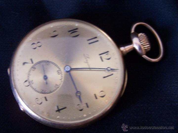 Relojes de bolsillo: ANTIGUO RELOJ DE ORO LONGINES, AÑO 1905, CON SU LEONTINA DE ORO Y CAJA RELOJERA DE VIAJE - Foto 94 - 41410262