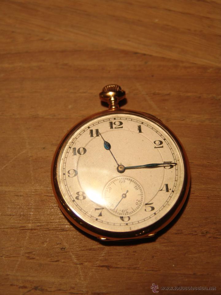 PRECIOSO RELOJ ANTIGUO DE BOLSILLO ORO 18K.WALTHAM,MASS. 15 JEWELS. (Relojes - Bolsillo Carga Manual)