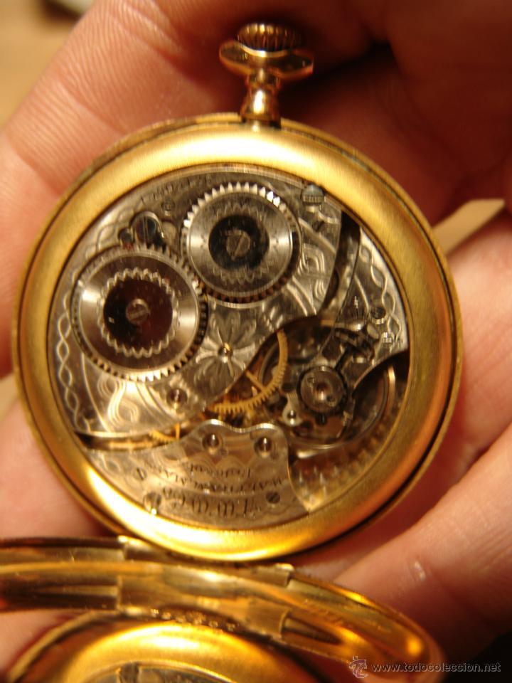 Relojes de bolsillo: PRECIOSO RELOJ ANTIGUO DE BOLSILLO ORO 18K.WALTHAM,MASS. 15 JEWELS. - Foto 4 - 42391981