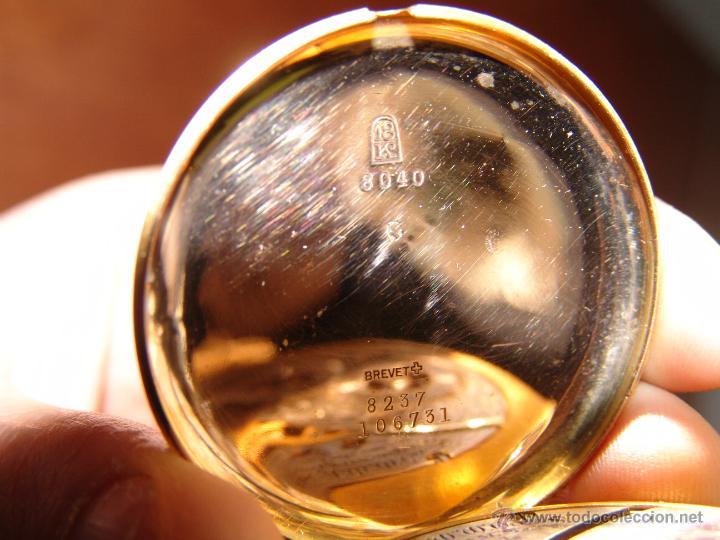 Relojes de bolsillo: PRECIOSO RELOJ ANTIGUO DE BOLSILLO ORO 18K.WALTHAM,MASS. 15 JEWELS. - Foto 7 - 42391981