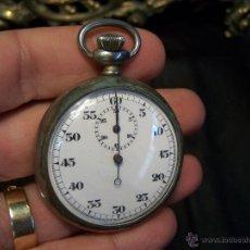 Relojes de bolsillo: RELOJ CRONÓMETRO ANTIGUO MECÁNICO HECHO EN SUIZA, TAN ANTIGUO QUE NO TIENE NI MARCA. Lote 42566727