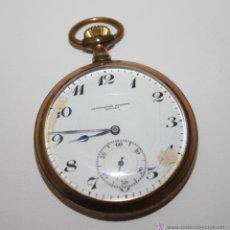 Relojes de bolsillo: RE104 CRONÓMETRO MODERNO QUILLET - CAJA PLAQUÉ ORO - FUNCIONA - PRINC. S. XX. Lote 42708173