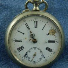 Relojes de bolsillo: RELOJ DE BOLSILLO NICKEL BONITA CAJA. Lote 42758605