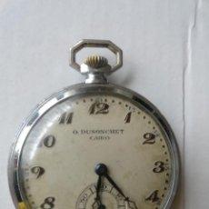 Relojes de bolsillo: RELOJ BOLSILLO A CUERDA O.DUSONCHET CAIRO DE SUIZA 15 RUBIS FUNCIONANDO. Lote 43276881