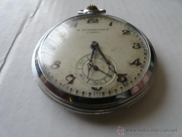 Relojes de bolsillo: RELOJ BOLSILLO A CUERDA O.DUSONCHET CAIRO DE SUIZA 15 RUBIS FUNCIONANDO - Foto 2 - 43276881