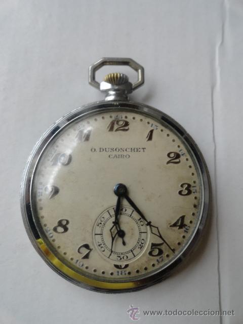 Relojes de bolsillo: RELOJ BOLSILLO A CUERDA O.DUSONCHET CAIRO DE SUIZA 15 RUBIS FUNCIONANDO - Foto 7 - 43276881