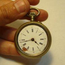 Relojes de bolsillo: ANTIGUO RELOJ DE BOLSILLO O SABONETA. S.XIX. 3 TAPAS. ESFERA ESMALTADA. NECESITA REPARACIÓN.. Lote 203851901