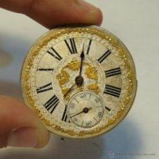 Relojes de bolsillo: PRECIOSA ESFERA Y MAQUINARIA PARA RELOJ DE BOLSILLO ANTIGUO. ESFERA MUY TRABAJADA.. Lote 43398674