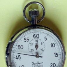 Relojes de bolsillo: CRONOMETRO DE CUERDA HANHART ACERO 3 JEWELS , 30 MINUTOS, 55 MM. EXCELENTE. Lote 43412620