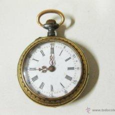 Relojes de bolsillo: PEQUEÑO RELOJ DAMASQUINADO. FUNCIONANDO.. Lote 43477763