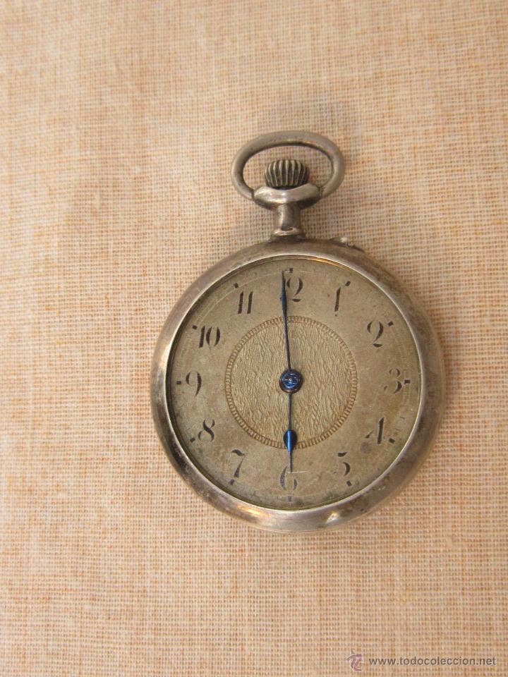 Relojes de bolsillo: RELOJ DE BOLSILLO ANTIGUO EN PLATA DE LEY - Foto 2 - 43629167