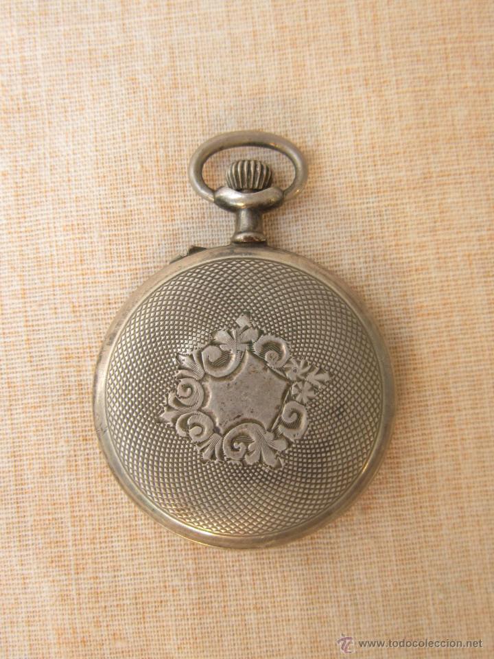 Relojes de bolsillo: RELOJ DE BOLSILLO ANTIGUO EN PLATA DE LEY - Foto 3 - 43629167