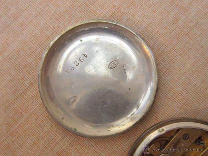 Relojes de bolsillo: RELOJ DE BOLSILLO ANTIGUO EN PLATA DE LEY - Foto 5 - 43629167