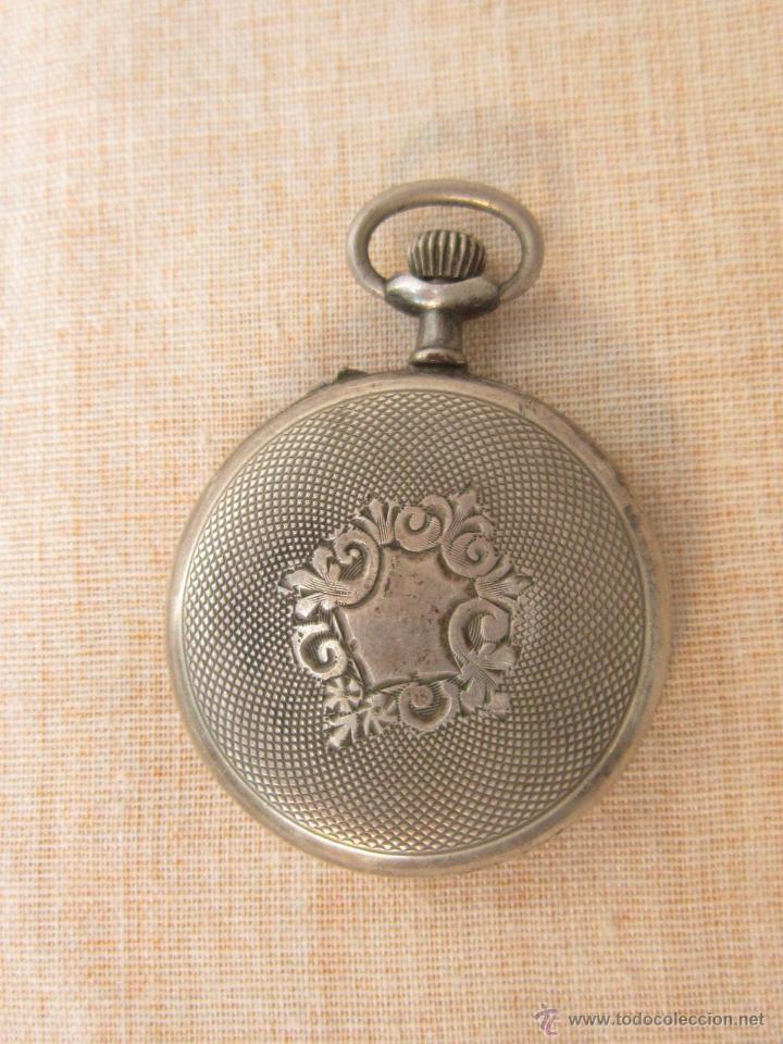 Relojes de bolsillo: RELOJ DE BOLSILLO ANTIGUO EN PLATA DE LEY - Foto 6 - 43629167