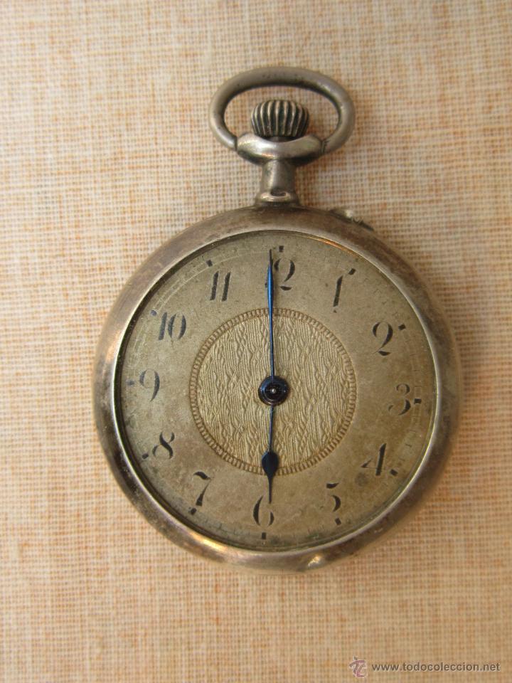 Relojes de bolsillo: RELOJ DE BOLSILLO ANTIGUO EN PLATA DE LEY - Foto 7 - 43629167
