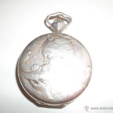 Relojes de bolsillo: BONITO RELOJ DE PLATA MODERNISTA. Lote 44040949