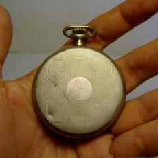 Relojes de bolsillo: ANTIGUO RELOJ DE BOLSILLO DE CUERDA. PLATA .800 MLS (CON CONTRASTES).. Lote 44244134