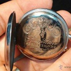 Relojes de bolsillo: ANTIGUO Y RARO RELOJ DE BOLSILLO ROSKOPF DE FERROVIARIO, FUNCIONANDO Y CON UN TIC TAC MUY POTENTE. Lote 44277334