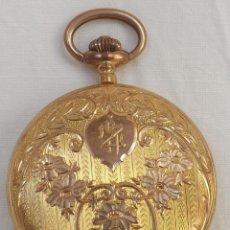 Relojes de bolsillo: RELOJ DE BOLSILLO ORO. EN ESTADO DE MARCHA. TOP.. Lote 44435354