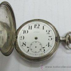 Relojes de bolsillo: ANTIGUO RELOJ DE BOLSILLO ROUNDLY 3 TAPAS PLATA 900. Lote 44729195
