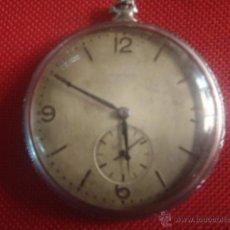 Relojes de bolsillo: RELOJ DE BOLSILLO CYMA PATENTED 20452 FUNCIONANDO,MIDE 4,50 SIN CONTAR LA CORONA.. Lote 122793659