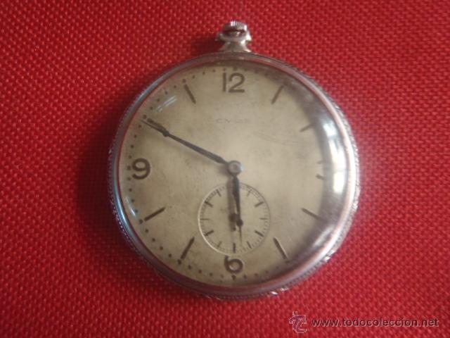 Relojes de bolsillo: RELOJ DE BOLSILLO CYMA PATENTED 20452 FUNCIONANDO,MIDE 4,50 SIN CONTAR LA CORONA. - Foto 2 - 122793659