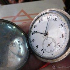 Relojes de bolsillo: ANTIGUO RELOJ GRAND PRIX AÑO 1910 BRUXELLES - PLATA CON 15 RUBIS - FUNCIONANDO. Lote 44793054