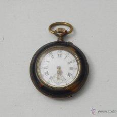 Relojes de bolsillo: RELOJ DE BOLSILLO PARA MUJER. CAREY, NACAR Y PLATA.. Lote 45356131
