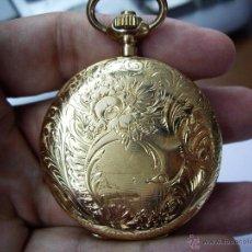 Relojes de bolsillo: PRECIOSO RELOJ ISABELINO DE ORO DE 3 TAPAS DE 18 KLTS. GRAN TAMAÑO - PERFECTO FUNCIONAMIENTO. Lote 45541007