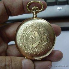 Relojes de bolsillo: PRECIOSO RELOJ ISABELINO DE ORO DE 3 TAPAS DE 14 KLTS. QTE. SALTER - PERFECTO FUNCIONAMIENTO. Lote 45541190