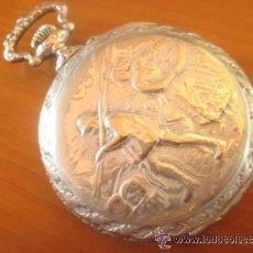 Relojes de bolsillo: MAGNIFICO RELOJ DE BOLSILLO SUIZO MARCA UNIC CAJA COMPLETA LABRADA CON ESCENA DE PESCADORES, 1915. Lote 46285995