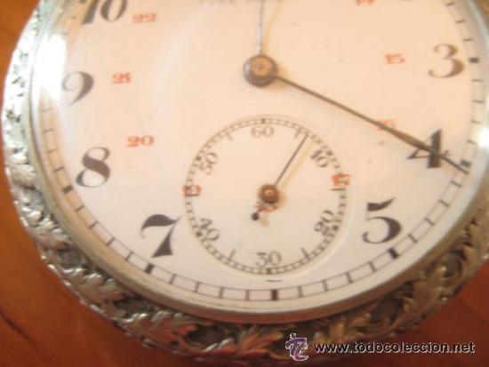 Relojes de bolsillo: MAGNIFICO RELOJ DE BOLSILLO SUIZO MARCA UNIC CAJA COMPLETA LABRADA CON ESCENA DE PESCADORES, 1915 - Foto 6 - 46285995