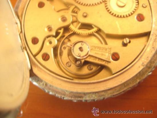 Relojes de bolsillo: MAGNIFICO RELOJ DE BOLSILLO SUIZO MARCA UNIC CAJA COMPLETA LABRADA CON ESCENA DE PESCADORES, 1915 - Foto 9 - 46285995