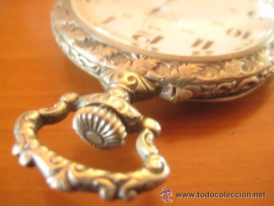 Relojes de bolsillo: MAGNIFICO RELOJ DE BOLSILLO SUIZO MARCA UNIC CAJA COMPLETA LABRADA CON ESCENA DE PESCADORES, 1915 - Foto 10 - 46285995