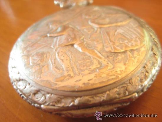 Relojes de bolsillo: MAGNIFICO RELOJ DE BOLSILLO SUIZO MARCA UNIC CAJA COMPLETA LABRADA CON ESCENA DE PESCADORES, 1915 - Foto 13 - 46285995