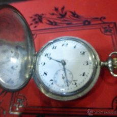 Relojes de bolsillo: ANTIGUO RELOJ DE BOLSILLO EN PLATA CON 3 TAPAS - GRAND PRIX AÑO 1910 - PLATA LEY 0,875 - FUNCIONANDO. Lote 46289330