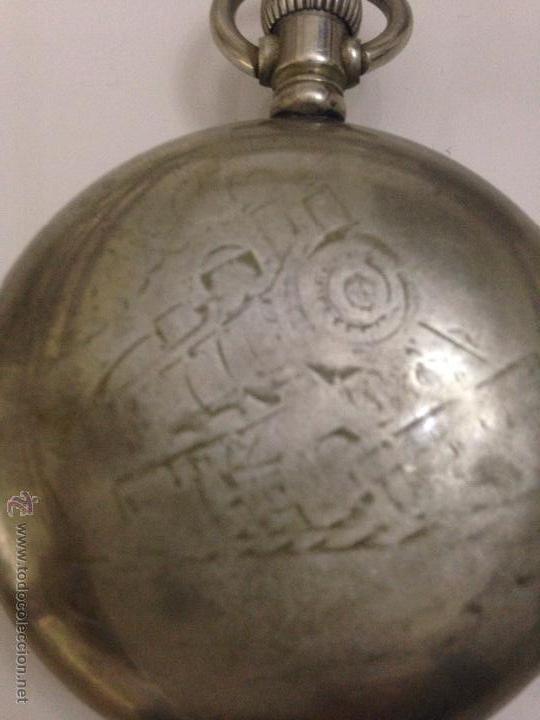 Relojes de bolsillo: Antiguo reloj ferroviario - Foto 2 - 46468653