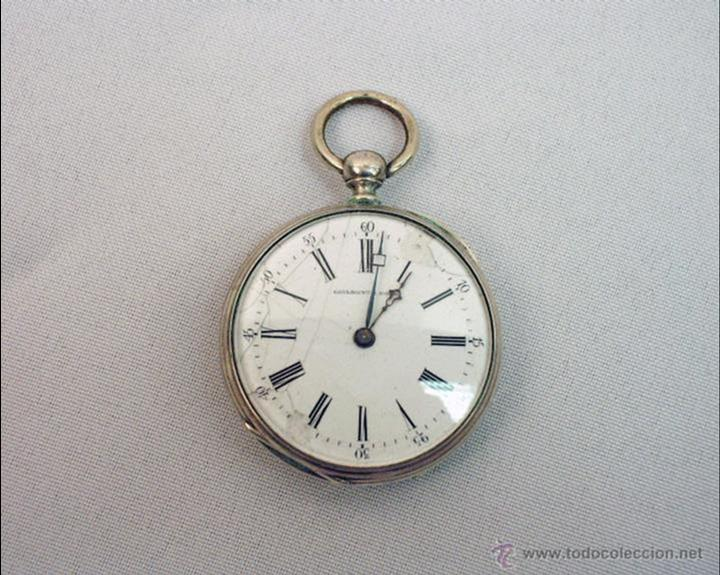 cb5812751477 5 fotos RELOJ DE BOLSILLO DE PLATA FRANCES (Relojes - Bolsillo Carga  Manual) ...
